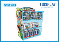 Floor Four Tiered Display Shelves , Retail Cardboard Displays Stand For Cartoon Toys