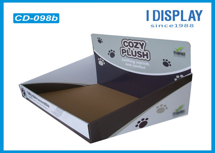 Corrugated Cardboard Counter Top Display Stands Plush Toys Boxes