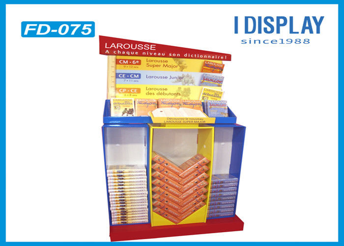 4 Compartments Corrugated Retail Cardboard Displays For Indoor Supermarket