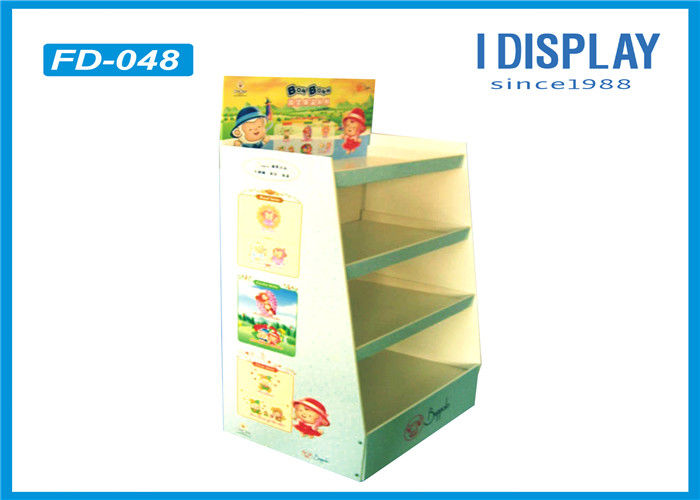 Floor Standing Cardboard Pallet Display Shelves For Baby Products