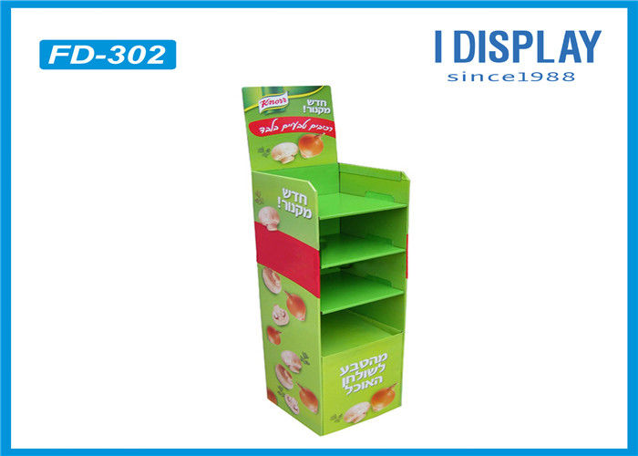 Supermarket Corrugated Cardboard Pallet Display Green Color For Chewing Gum