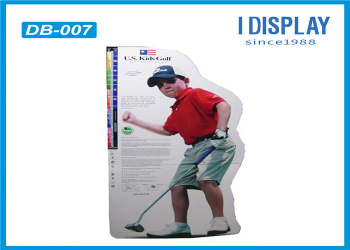 Golf Cardboard Advertising Displays Offset Printing With Customized Logo