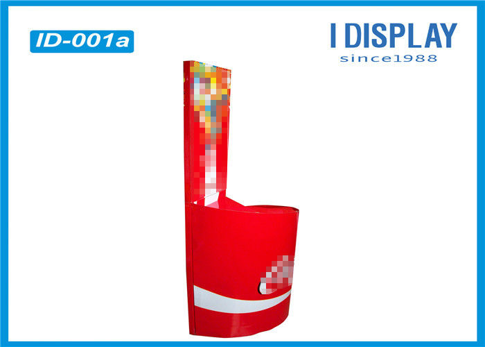 Corrugated Cardboard Advertising Displays Powder Coating For Drinking Water