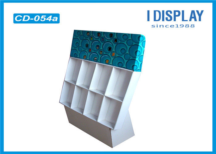 Burly Cardboard Counter Display Stands / Greeting Card Display For LED
