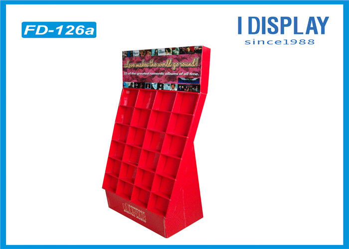 Custom Cardboard Pallet Display Racks Five Shelf Double Show For Envelopes