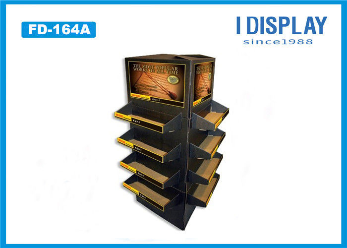 Recyclable Cardboard Pallet Display , Foaming Cleanser Cardboard Product Display Stands