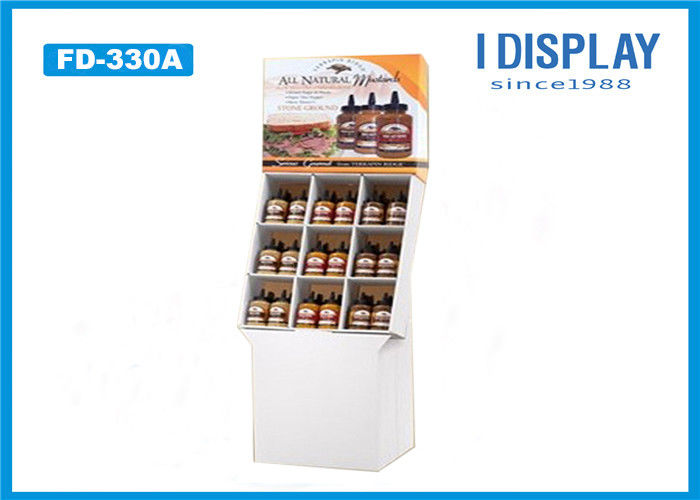 Corrugated POP Cardboard Display , Cardboard Floor Display Stands