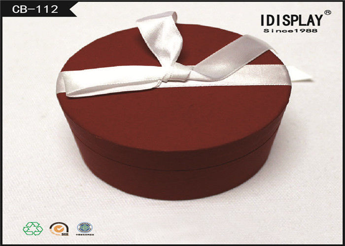 Retail Round Cardboard Gift Boxes / Gift Box Packaging For Candy