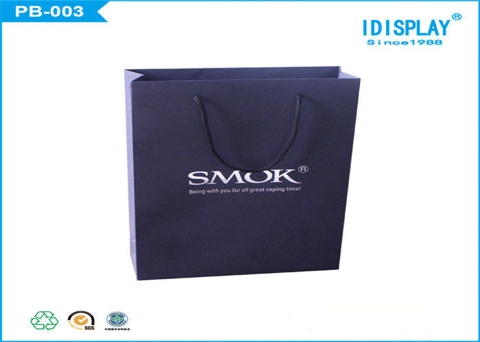 Custom Recycled Black Gift Bags / Large Gift Bags Panton Offset Printing
