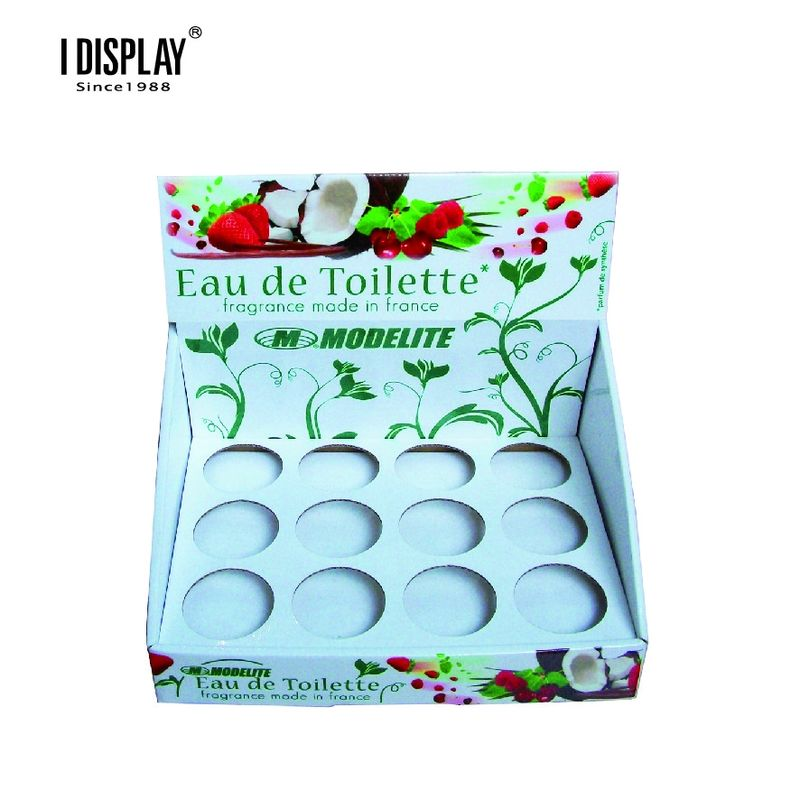 Point Of Sales Hand Cream Cardboard Counter Display Stands Custom Eye Catching